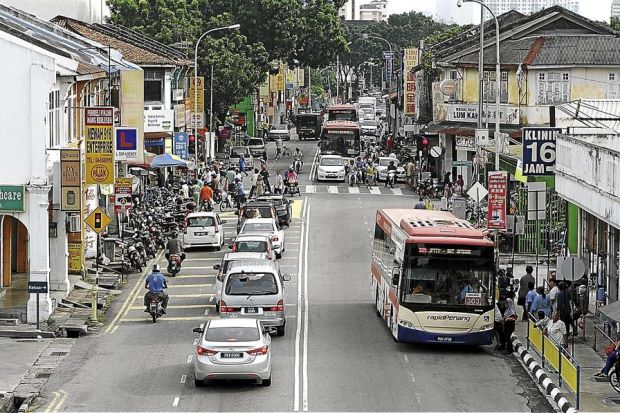 Penangites regard Jelutong as a main road to the Jelutong suburb. — Zhafaran Nasib / The Star