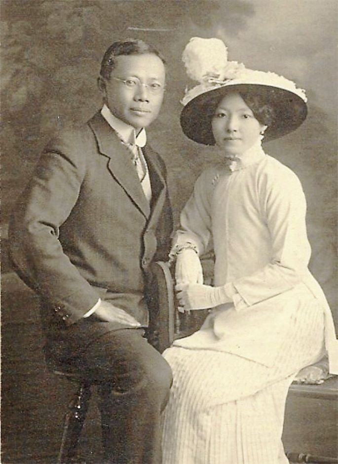 Wu Lien Teh and his wife (Cambridge University)