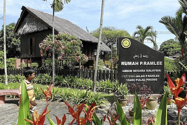 A glimpse of his past: The house where P. Ramlee grew up in has been converted into a museum.