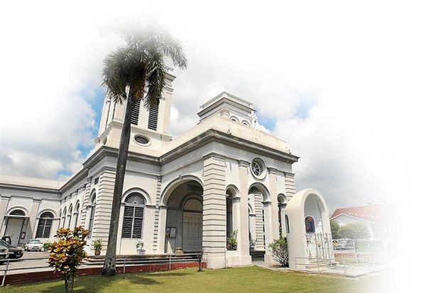 Oldest church: Penang's first independent English newspaper, the Pinang Argus, was published from 1867 to 1873 and named after Argus Lane which was just behind the Cathedral of the Assumption (pictured).
