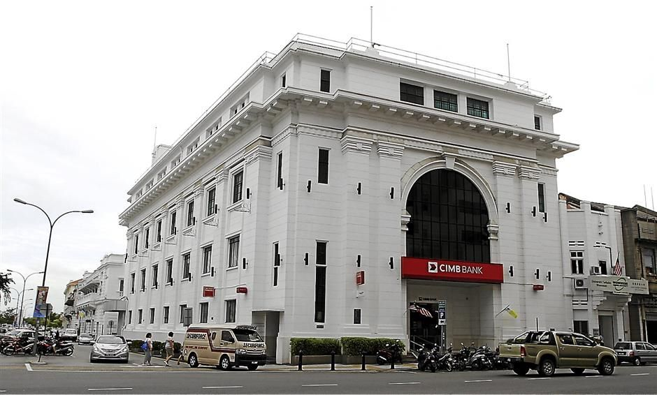 Heritage building: The old Ban Hin Lee head quarters is now a  CIMB Bank.