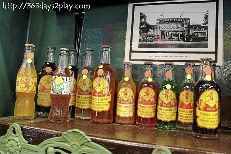 Old School: A selection of old Fraser & Neave (F&N) soft drink bottles. - photo courtesy of 365days2play.com